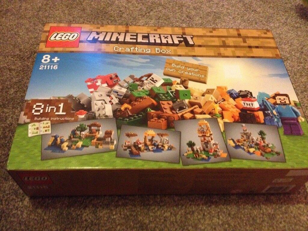 Brand new Lego Minecraft crafting box