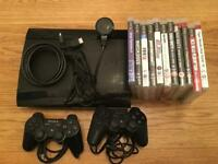 PS3, 11 Games including watchdogs, COD and gran turismo and 2 controllers