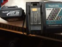 makita dc 18rc charger & 18v 3.0ah lithium-lon battery