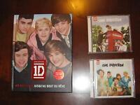 LIVRE ET 2 CD ONE DIRECTION