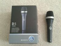 D5 Dynamic Microphone, **used once with box**