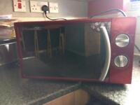 Morphy Richards red microwave