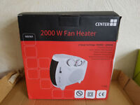 CENTER 2000W 2KW FAN HEATER HOT & COLD - NEW