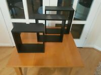 Wall desk shelves