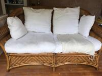 Bamboo 2 seater and single chair conservatory set