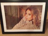 Signed Ella Henderson framed picture.