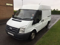 56 plate ford transit mk7 simi high top 9 months test,cheap van for work £1400 no offers