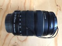 Canon EF-S 18-135mm IS STM motor Lens + 67mm UV Filter