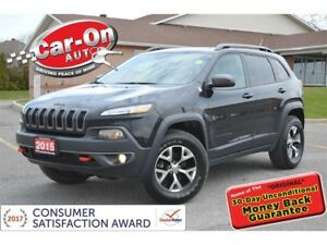 2015 Jeep Cherokee Trailhawk 4X4  LEATHER NAV HTD SEATS REAR CAM