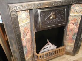 cast iron fire and tiled surround