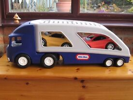 Little Tikes car transporter with two cars