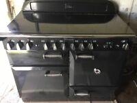 Rangemaster Elan 110 Black. Ceramic all electric cooker in excellent condition