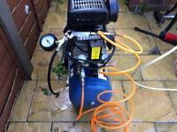 240v air compressor 25l good for spraying or pumping tyres