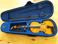 Stentor half size violin plus chin rest