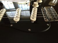 Fantastic 'Gilmourified' Mexi Fender Stratocaster in Black with Extras!