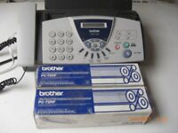Brother Fax Machine with Cartridges