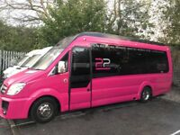 Pink Limo Party Bus - 16 Seater + driver - COIF - PSV - Auto