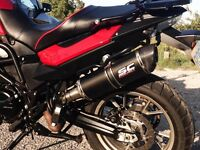 Accessorized to the hilt! Red BMW F700GS -