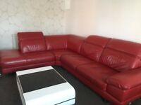 DFS LARGE Corner Leather Sofa RRP £2,599 295 CM X 230 CM