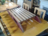 Antique wood snow sledge