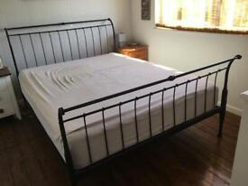 Metal bed frame - great condition & sturdy