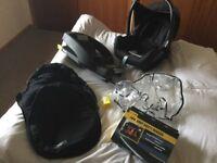 Maxi Cosi Cabriofix baby car seat and accessories