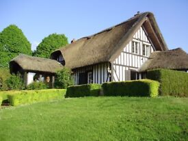 Thatched cottage in Normandy France