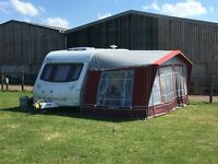 2004 Ace Award Dawnstar 2 Berth End Bathroom Caravan with Full Isabella Awning & Motor Mover