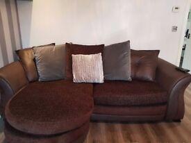 Chocolate Brown 4 seater sofa