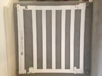 White stair gate guard extendable mothercare