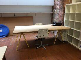 Heavy Duty Trestle Table / Desk with Legs