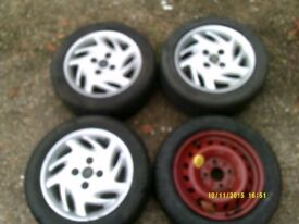 FIAT Cinquecento wheels set of 3 with space saver