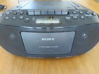 Sony Radio CD Cassette Player.
