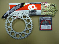 47T UNIBEAR O Ring Chain And Renthal Sprocket Kit DRZ 400 SM S E 00-12
