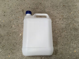 Jerry Can plastic 5 Litre white with blue tamper evident lid 0.20pence