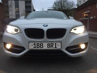 BMW 2 Series 220i AUTO 8500-miles Park-assist Camera Glass-roof Navigation Cruise-control Leather