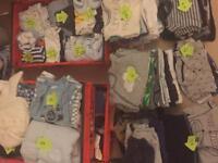 Baby boys clothes. Newborn. 0-3 months. 3-6months. 6-9months. 9-12months. 12-18months