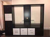 Ikea unit tv black brow
