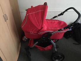 2in1 push pram + Chico polly high chair good condition