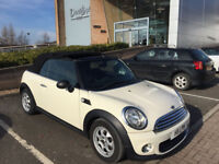 "Mini one convertible ,2011 ""11"" facelift only 1 owner 80000miles lovely trendy car"