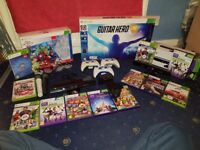 Xbox 360 Accessories Bundle (Guitar, Disney Infinity, Controllers, Headset, Kinect, Microphone)