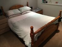Solid Pine King size bed frame excellent condition