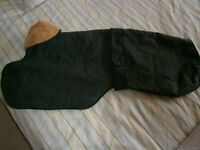 DOG COAT - GREEN WAXED WITH FUR LINING MADE BY COSIPET