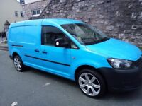 Ex British Gas VW Caddy Maxi - Alloys, insulated, carpeted, hard flooring. Six lights