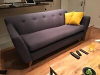 Sofa Sofa Jacob 3 Seater Sofa Victorian Slate: AS NEW
