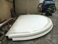 Used Semicircular Flat Conservatory Roof