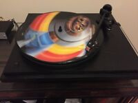 Revolver (similar to Linn or Rega) turntable record player with Linn Basik LV X tonearm
