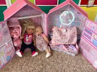 Baby Annabell house, Annabell doll and Toddle sister