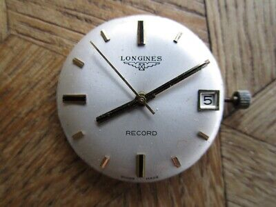 Vintage RECORD / LONGINES Manual Movement Cal. 651. For Parts.
