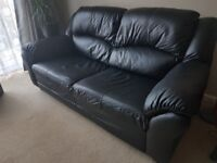 Black Faux Leather Sofa Living Room